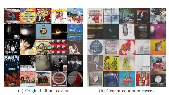 Comparison of original covers with generated