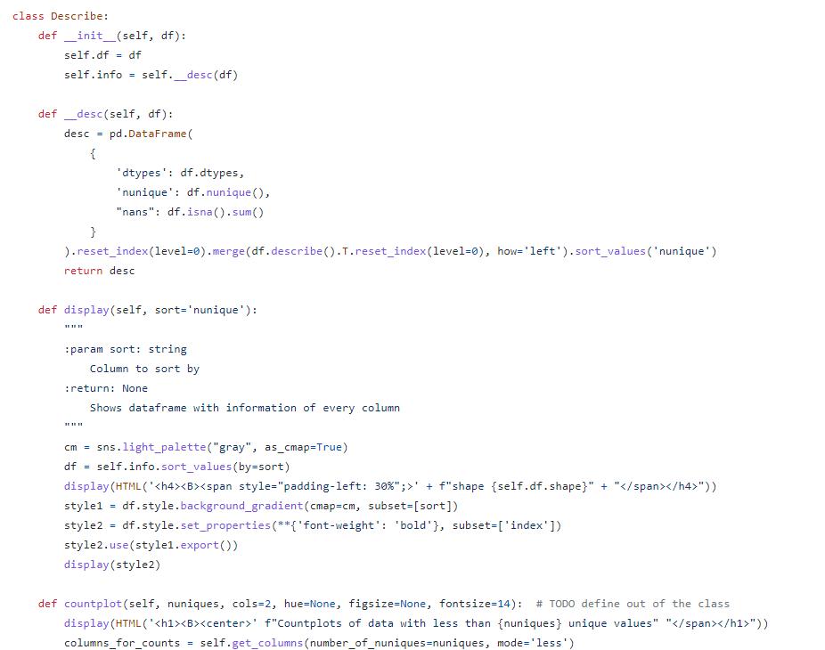 Python code before black